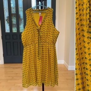 Xhiliration dress-fun yellow color size XXL NWT